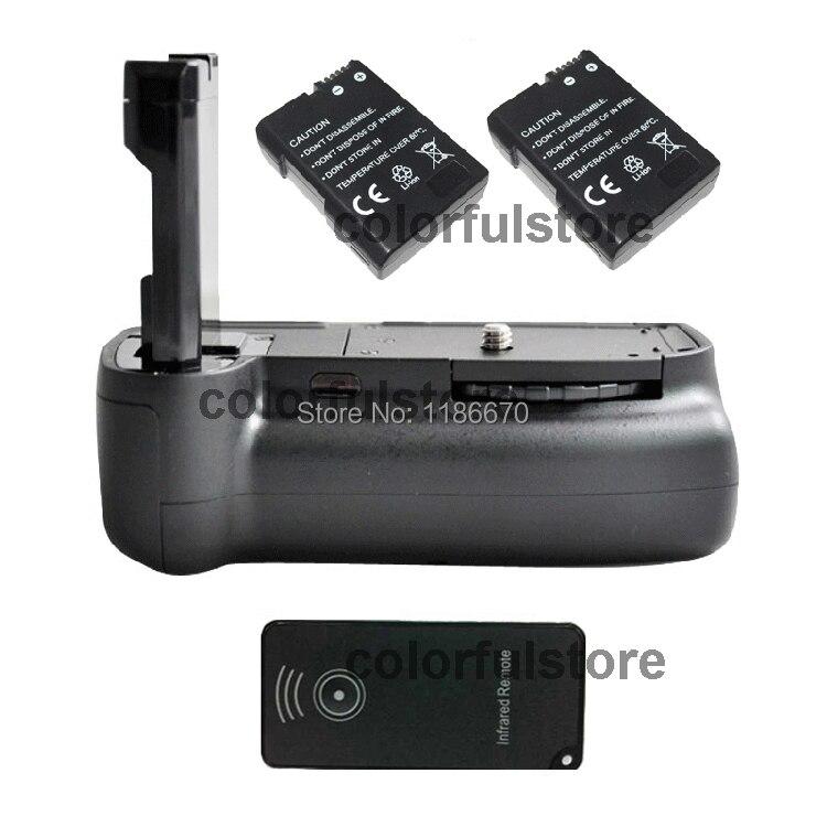 Vertical Shutter Battery Hand Handle Grip Holder For Nikon D5200 D5100 D5300 as MB-D51 MB-D51 DSLR Camera +IR Remote+2 x EN-EL14 new arrival battery handle hand grip pack holder vertical power shutter for nikon d750 camera as mb d16 2 x en el15 car charger
