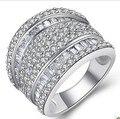 Высокое качество стерлингового серебра 925 принцесса cut обручальное кольца дизайнера вдохновили ювелирные изделия преувеличены ювелирных изделий итальянских ювелирных изделий