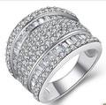 De alta calidad de la plata esterlina 925 corte princesa anillos de compromiso inspirado diseñador de la joyería exagerada de la joyería de la joyería italiana