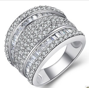 high quality sterling silver 925 princess cut engagement rings designer inspired jewelry exaggerated jewelry italian jewelry