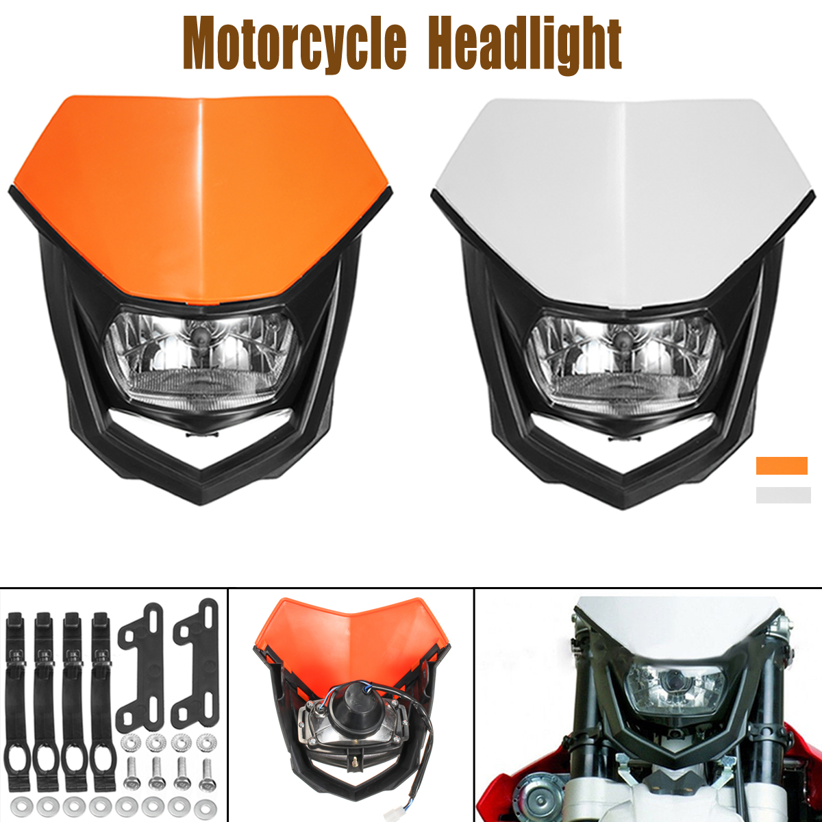 1x 12V H4 <font><b>Universal</b></font> Motorcycle <font><b>Headlight</b></font> Bulbs Headlamp <font><b>Dirt</b></font> <font><b>Bike</b></font> Motorcycle Accessories image