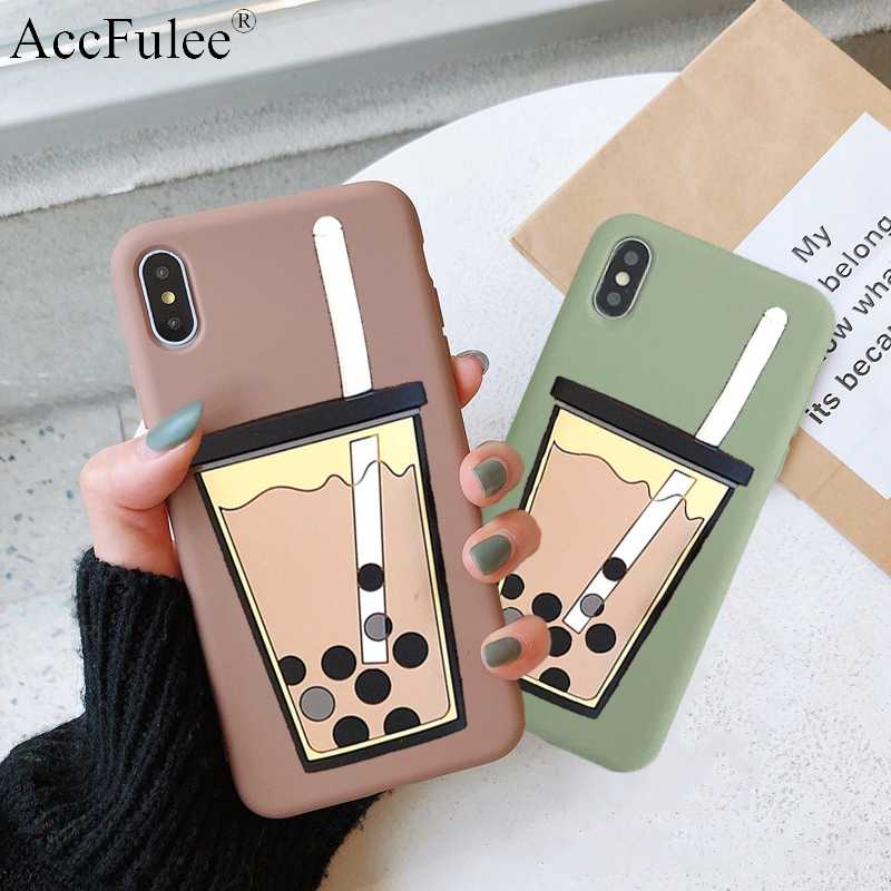 Cartoon 3D Milk Tea Funny Case For Oneplus 3 3T 5 5T 6 6T One Plus 7 Pro Silicon Drink Cup TPU Phone Cover