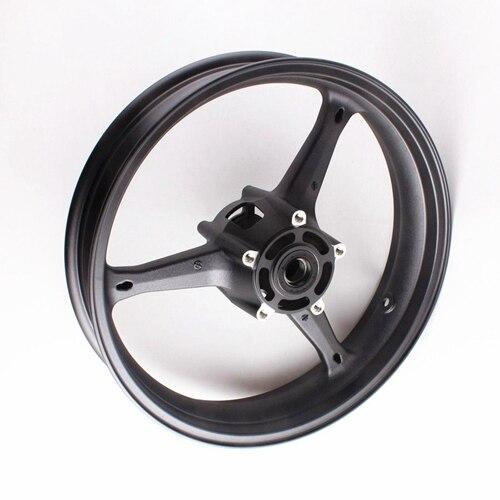 Motorcycle Front Wheel Rim For Suzuki GSXR 600 GSXR 750 K6 2006-2007 GXSR1000 K5 K7 2005 2006 2007 2008 Aluminum Alloy Black (4)
