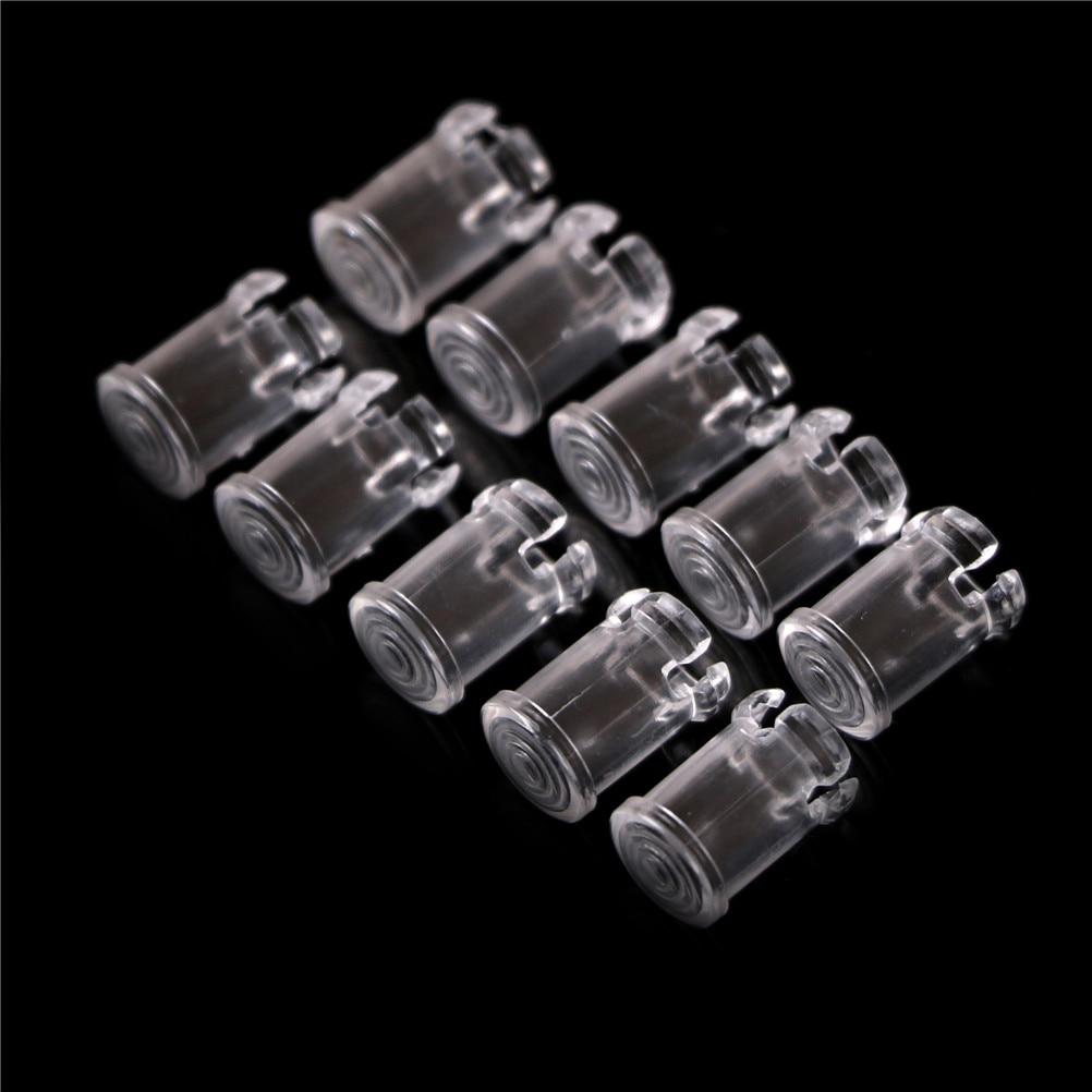 10/20 штук 3 мм 5 мм прозрачный Пластик светодиодный светильник на светодиодах абажур протектор