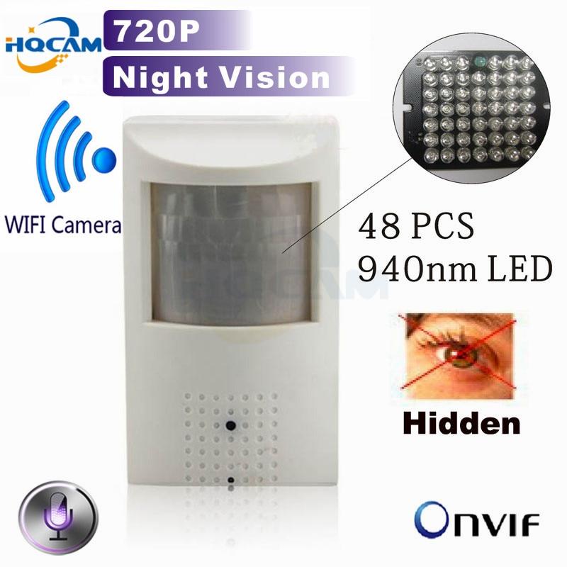 HQCAM 720P IR CUT mini ip camera Wifi 940nm led Security Network Camera Night vision camera IR IP Camera PIR Motion mini Kamera цена