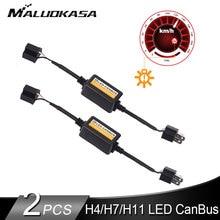2 шт H7 светодиодный Canbus бездефектный декодер для H4 светодиодный фар наборы колб для внедорожник Противотуманные огни H1 H8 H11 HB3 HB4 адаптер анти-мерцания