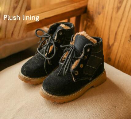 Дети Осень Зима прогулочная обувь дети Мартин Обувь для мальчиков девочек зимние Обувь дети Спортивная обувь зимние сапоги туфли из хлопка ...