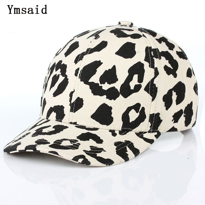 2019 New Fashion Leopard Print   Baseball     Cap   For Women Men Brand Cowboy Hats Sun Beach Snapbacks Bone Chapeu Female