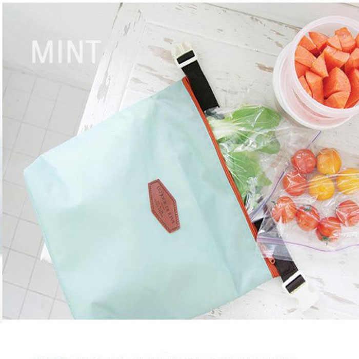 28 cm * 24 cm * 9 cm Saco De Armazenamento Sacos de Almoço Térmica Tote Portátil Malote Isolados Cooler Alimentos À Prova D' Água bolsa Sep1