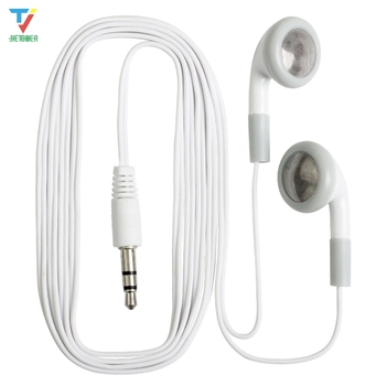 300pcs/lot Wholesale Disposable earphones low cost earbuds for Theatre Museum School library,hotel,hospital Gift wholesale cheap