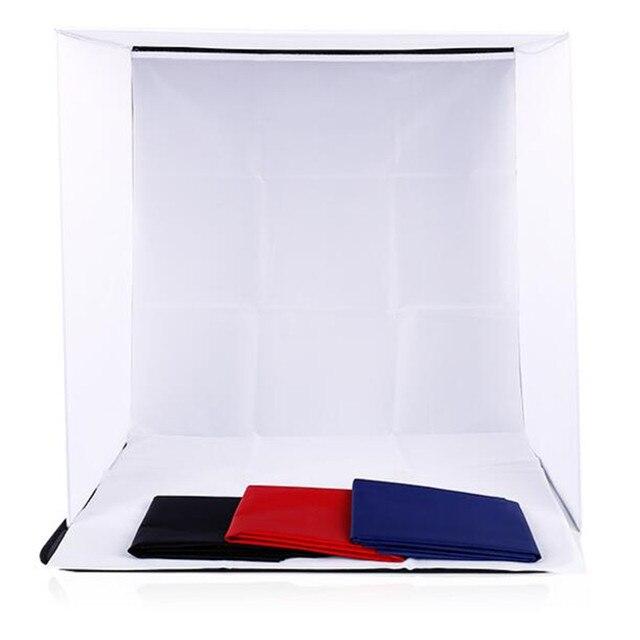 60x60x60 cm portátil dobrável softbox fotografia estúdio suave caixa de luz tenda com 4 foto backdrops para iphone samsang htc dslr