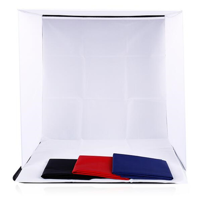 60x60x60CM Portable Folding Softbox Photography Studio Soft Box Light Tent With 4 Photo Backdrops For iPhone Samsang HTC DSLR