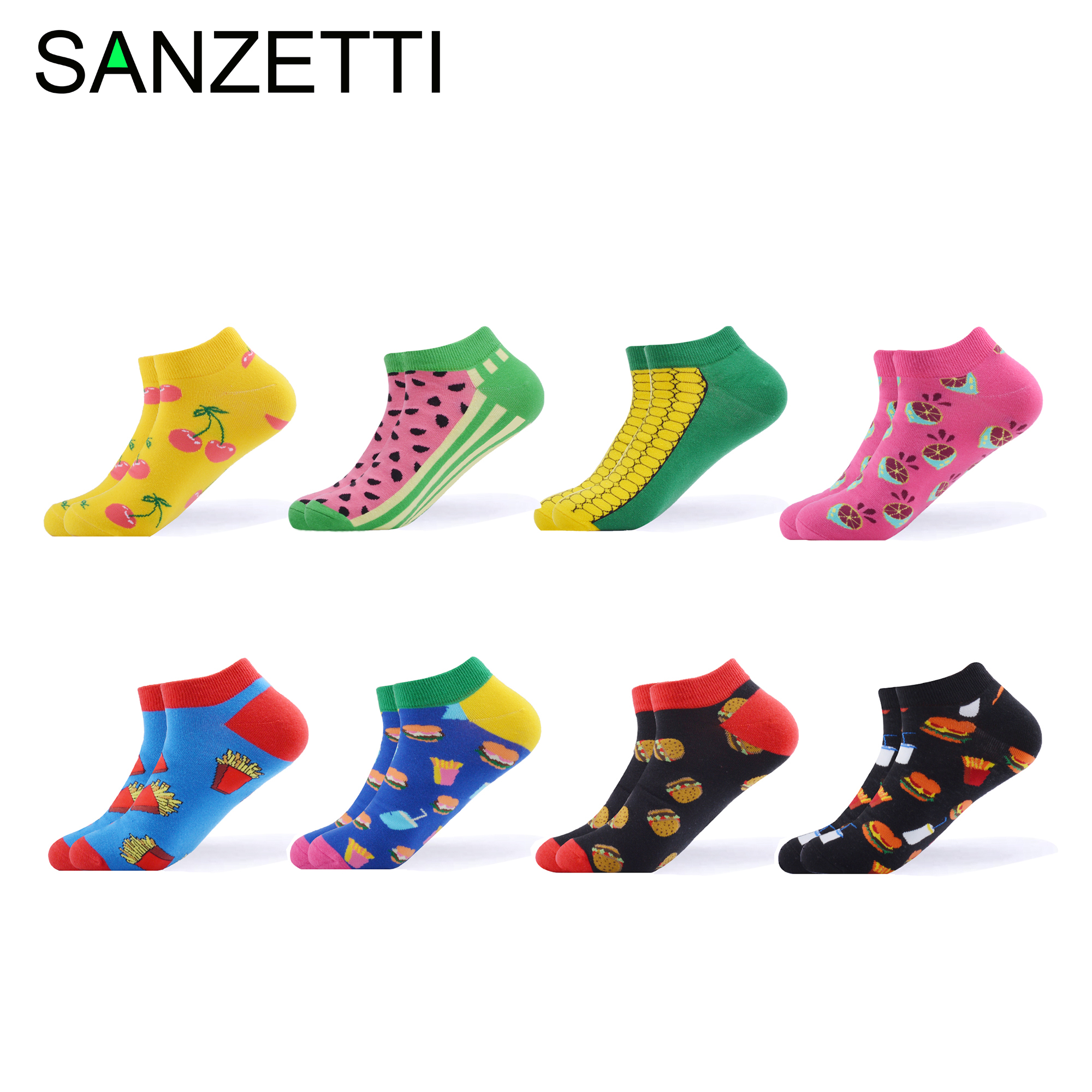 Sanzetti 5 Pairs/lot Colorful Mens Combed Cotton Causal Dress Wedding Socks Dot Pattern Novelty Funny Crew Skateboard Socks Underwear & Sleepwears