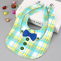 Double side 4 Layers Baby Bibs Waterproof Bow Shirt Baby Waterproof Burp Cloths Baby Boys Girls Slobber Bibs Bandana Bibs