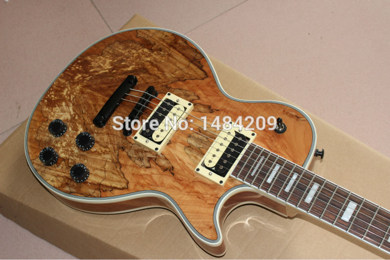 Wholesale Custom Shop Wooden Solid rotten tree wood Electric Guitar Top font b Musical b font