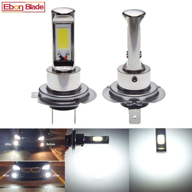 페어 새로운 canbus h7 led 안개 빛 cob 80 w 화이트 6000 k 자동 트럭 주간 러닝 조명 안개 램프 전구 drl 자동차 스타일링 12 v 24 v 30 v