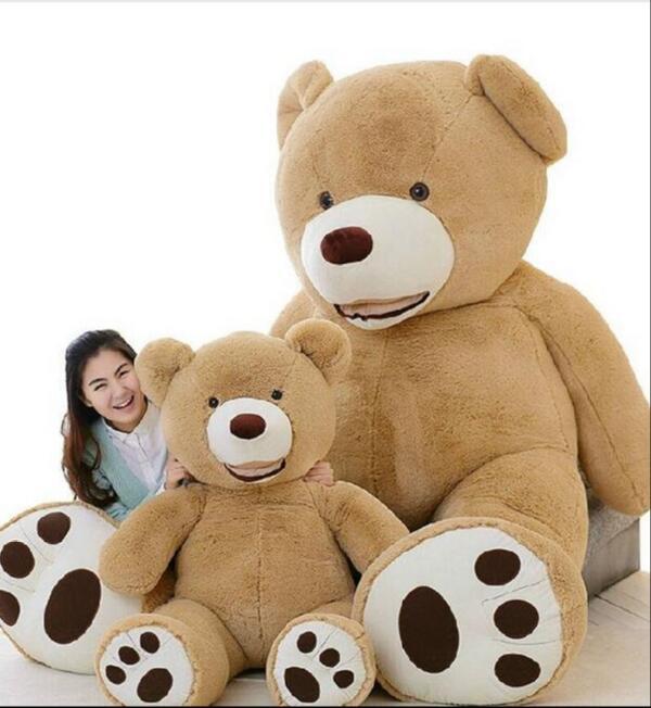 Enorme tamanho 160 cm eua urso gigante pele casco ursinho