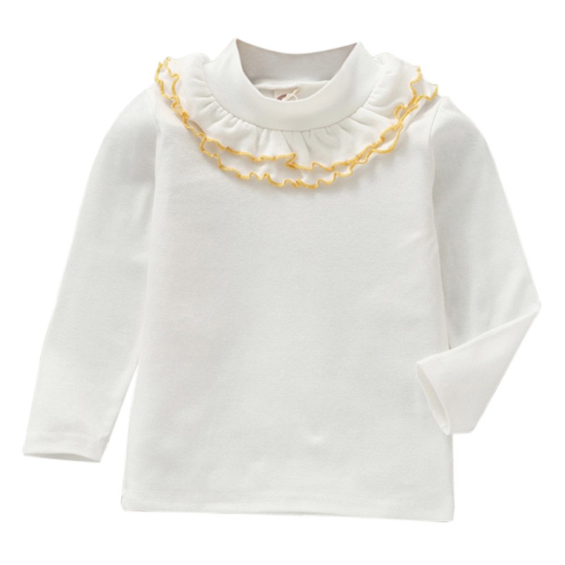 Child Shirt Long-Sleeve Baby-Girls Kids Fashion Cotton Summer Spring Solid Top