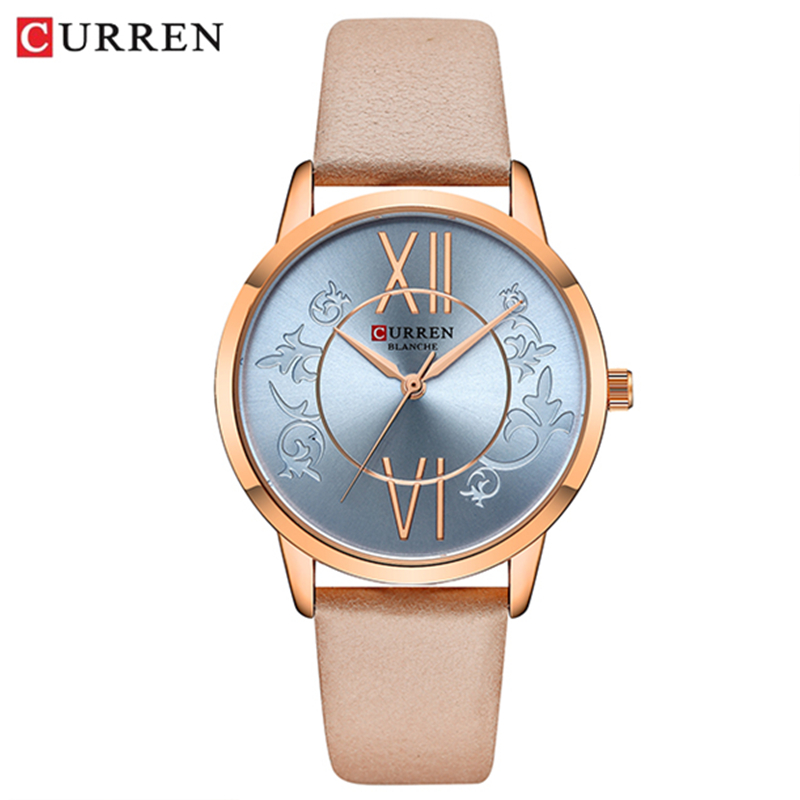 Women Watches 2019 <font><b>CURREN</b></font> Fashion Creative Analog Quartz Wrist Watch Reloj Mujer Casual Leather Ladies Clock Female Montre femme image