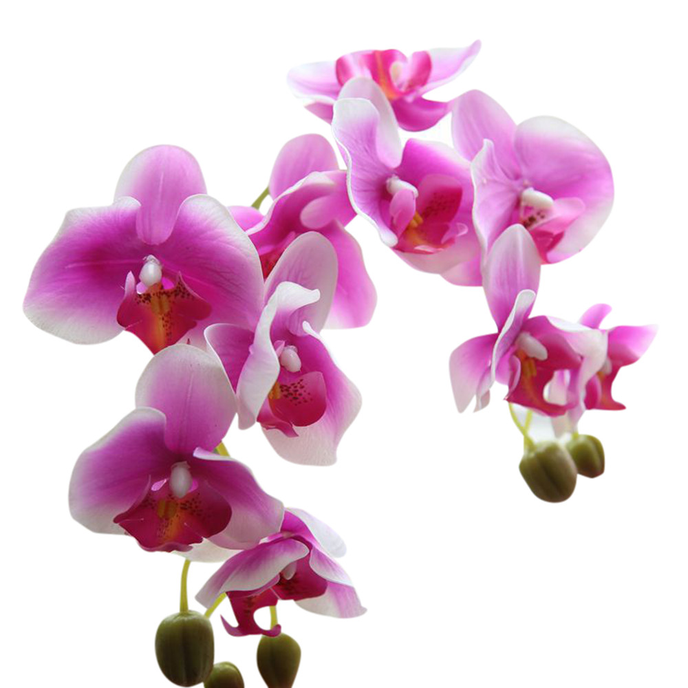 New Artificial Silk Fake Flowers Phalaenopsis Wedding Bouquet Party