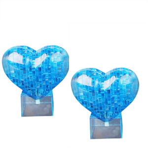 3D Crystal Puzzle Jigsaw Model DIY Love Heart IQ Toy Furnish Gift Souptoy Gadget RE4 Drop shipping(China)