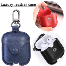 For Airpods Accessories Luxury Leather Case For Airpods Dust Guard Protective Case Bluetooth Headphones Case For Apple Airpods 2 цена