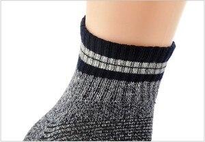 Image 5 - Calcetines térmicos de invierno térmico para hombre, Unisex, para senderismo, de algodón, Coolmax, venta al por mayor, 5 par/lote