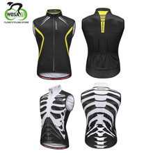 WOSAWE Refective Cycling Vest Mountain Bike Clothing Breathable Quick Dry Sleeveless Gilet Summer Racing Bicycle Clothes