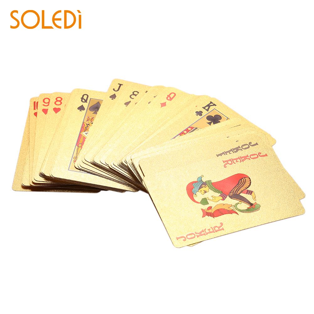 Gold Foil Playing Card 54PCS/Set National Flag Economic Poker Gold Gold Foil Party Luxury Playing Card Drop Shipping