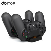 DOITOP Dual Charging Station Charger Dock Stand for Sony PS4 Joystick Controller Fast Charging for Playstation 4 Gamepad #3