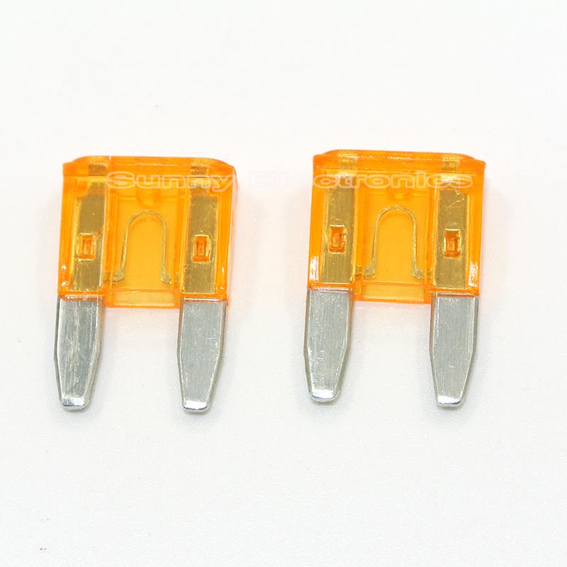 100PCS 20A 20Amp Electronic ATM Mini Blade Fuse Car Motorcycle Trucks Bus Fuses