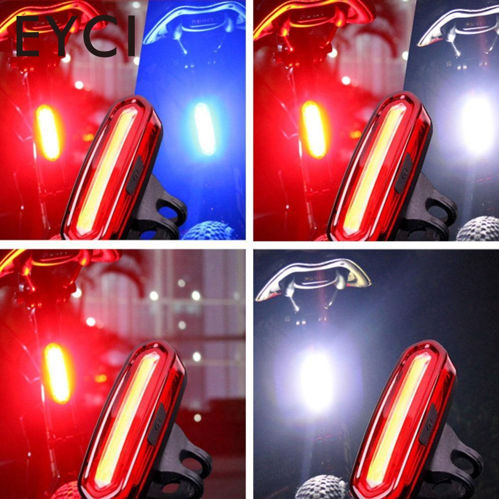 LED USB Rechargeable 100 LM Mountain Bike Tail Light Lamp Taillight MTB Safety