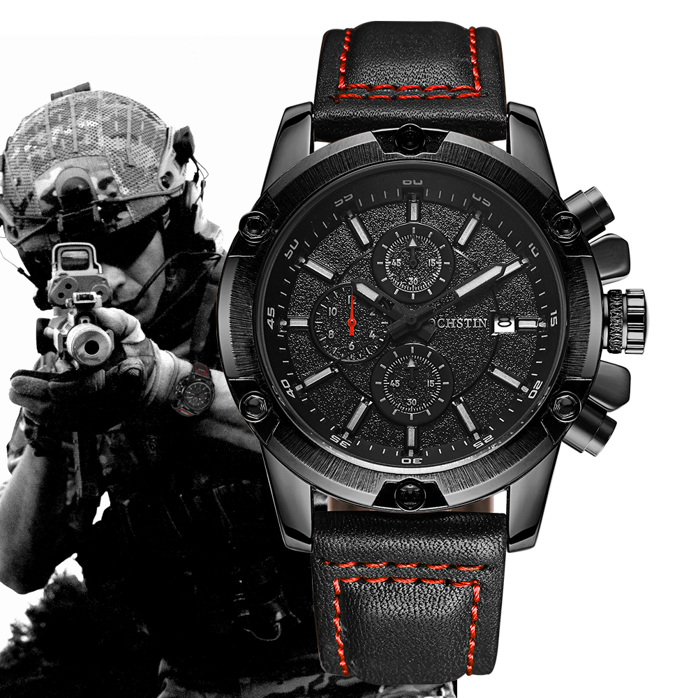 OCHSTIN Military Watch Men Top Brand Luxury Famous Sport Watch Male Clock Quartz Wrist Watch Relogio Masculino 2017 Black 2017 ochstin luxury watch men top brand military quartz wrist male leather sport watches women men s clock fashion wristwatch