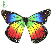 2018 NEW Belly Dance Props 360 Degrees LED Flash Lighting Wings Opening Split Wings Luminous Butterfly Dancing Wings With Sticks