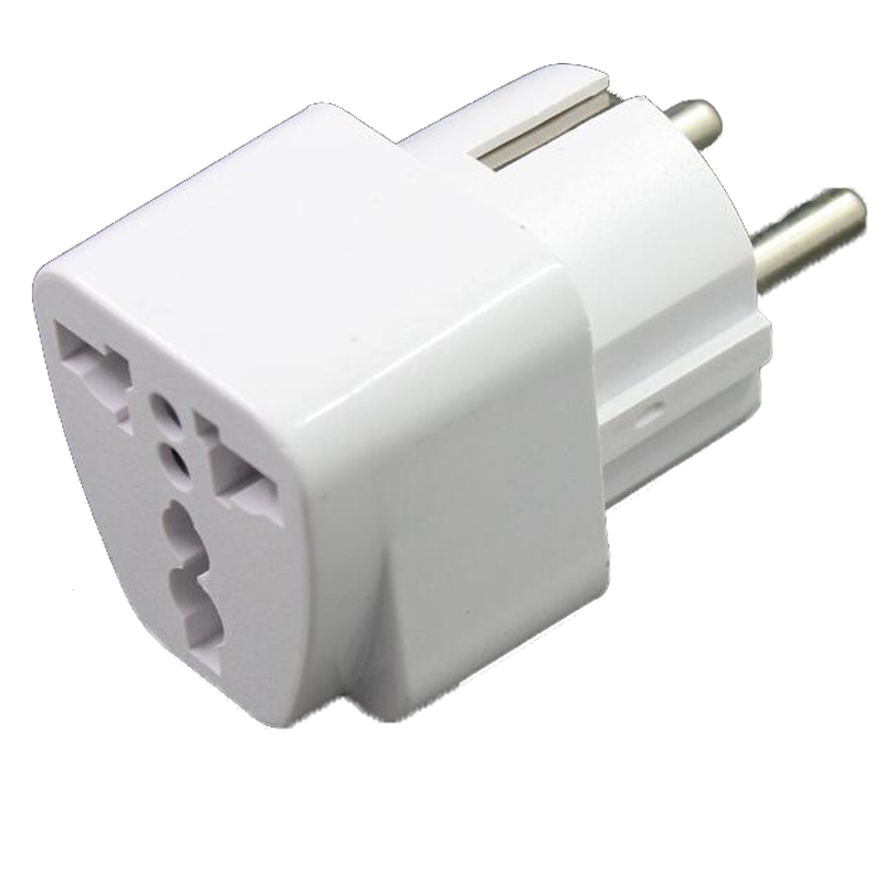 2 pcs New CN US To DE Plug Adapter Socket Plug Converter Travel Electrical Power Adapter Socket China To EU Plug