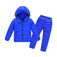 kids winter jacket sets girl coat boy baby warm clothes 2 pcs