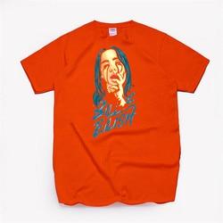 Billie Eilish Streetwear T Shirt MĘSKA KOSZULKA 100% bawełna miękka Tshirt Homme mody piosenkarka Harajuku koszula mężczyźni/kobiety Poleras 2019 5