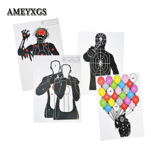 20pcs Archery Target Paper 4 Types Zombie Clown Shooting Practice Arrowhead Field Point Aim Paper