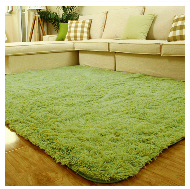 Cotton Carpet Living Room Dining Bedroom Area Rugs Anti: Light Green/Army 140x200cm Home Decoration Anti Slip Soft