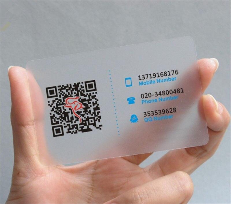 500 個/デザインカスタム透明名刺マットプリント 85.5*54 ミリメートル ID 名カード  グループ上の オフィス用品 & 学用品 からの 名刺 の中 3