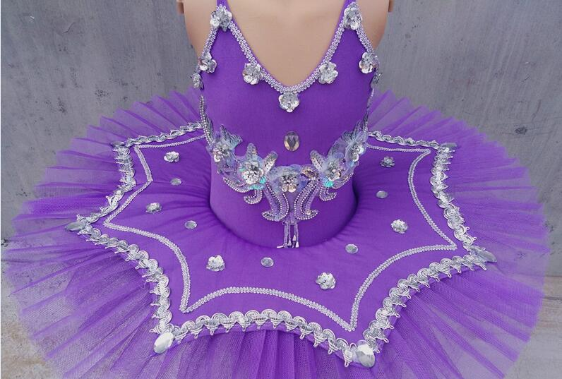 Enfants Sequin Ballet Tutu princesse robe plume filles Ballet danse Costume blanc cygne lac gymnastique justaucorps Costume 89