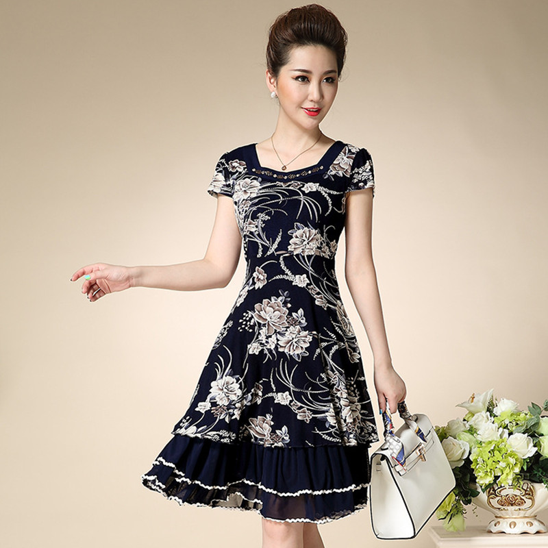 knee length floral summer dresses