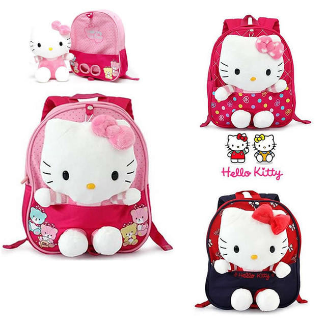 c4feacca7114 Kawaii Hello Kitty Backpack Brands Girl Toddler School Back Pack Anti-lost  Bag Baby Kid Keeper Safety Harness Strap Mochila Mini