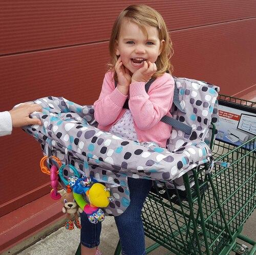 Тележка для продуктов чехол для детского сидения-ресторана высокий стул мягкие вставки Держатель для мальчиков, девочек, младенцев, малышей - Цвет: Blue and no toys