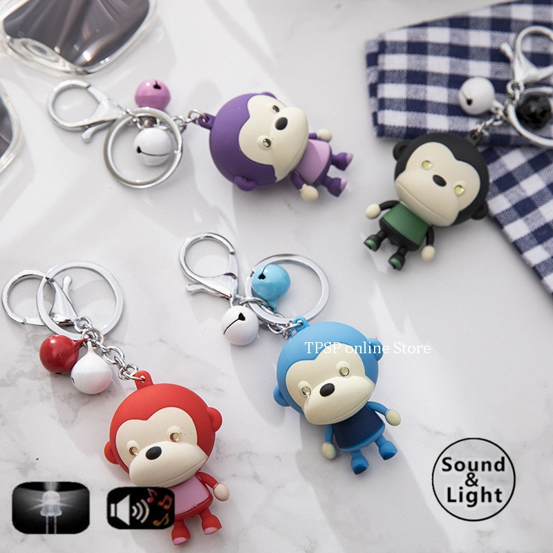 cartoon series The monkey LED sound and light key chain holiday party gifts kid toys