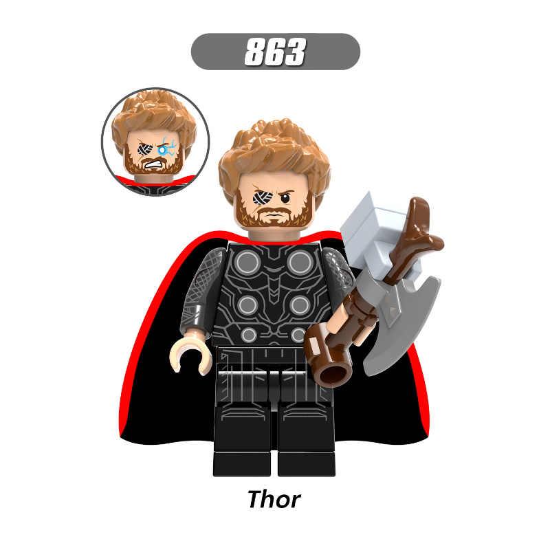 Única Venda Infinito Guerra Super-heróis Thor Homem-Formiga Soldado Inverno Bruce Banner Feiticeira Escarlate Blocos de Construção de Brinquedos Para Crianças x0192