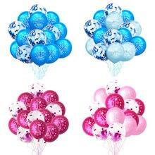 10/15 Uds 1st globos de fiesta de cumpleaños niño niña Primer cumpleaños un año de edad globo bebé baño bautismo fiesta suministros Ballon