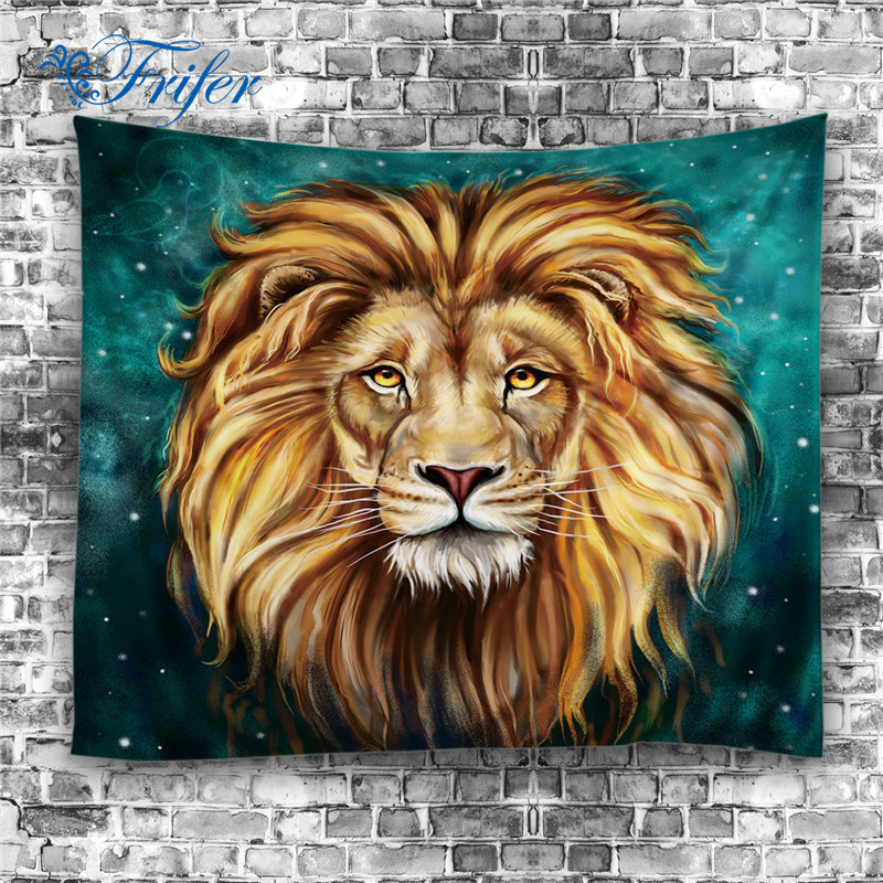 handmade 3d tiger lion digital printing home tapestry. Black Bedroom Furniture Sets. Home Design Ideas