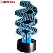 Спираль 3D светодиодные лампы Оптические иллюзии Декоративные Таблица свет разноцветные spiralism ночника для ребенка