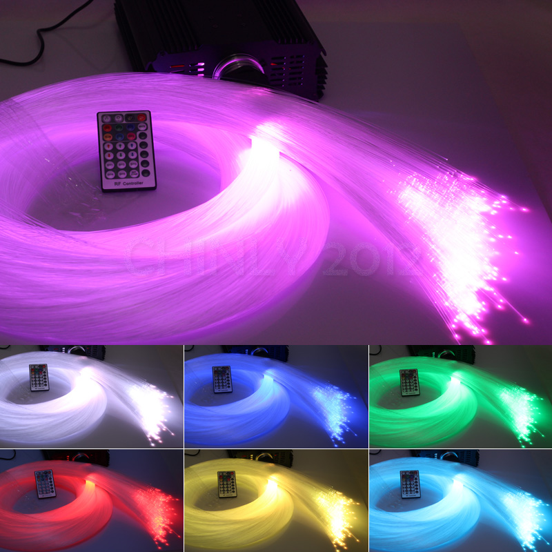 DMX 45W RGB 28key remote LED Fiber Optic star ceiling kit light 400 strands 5m 0.75mm+1.0mm+1.5mm